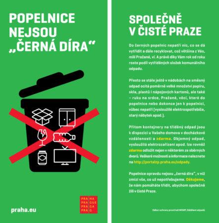 Informační letáček kampaně. Foto: Magistrát hl. m. Prahy
