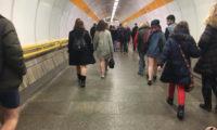 Takhle to dnes vypadalo v pražském metru.