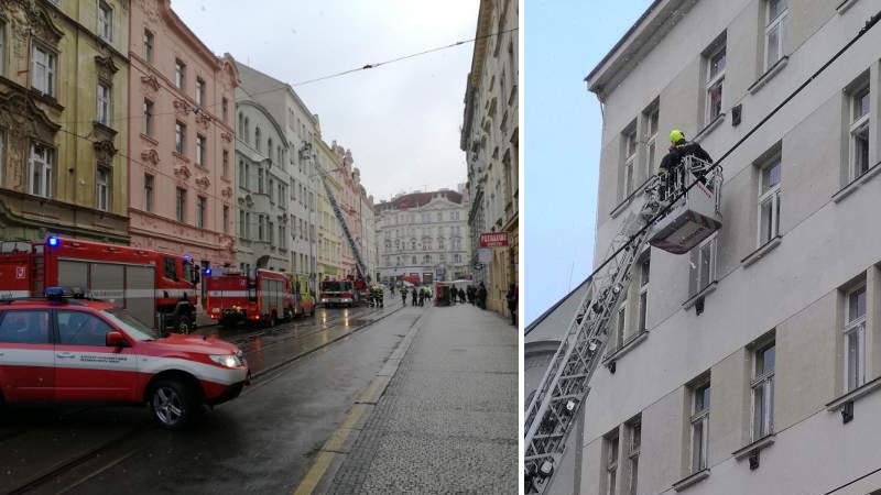 Pondělní zásah složek IZS v ulici Na Zámecké.