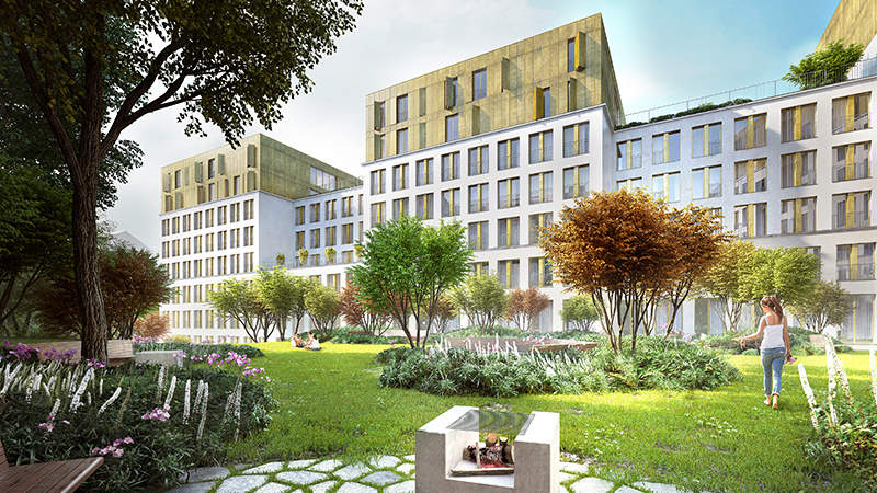 Karlín Group a International Campus postaví v Holešovicích největší projekt studentského bydlení.
