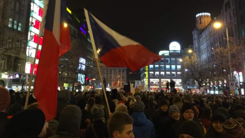 Demonstrace na Václavském náměstí, 5. 3. 2018.