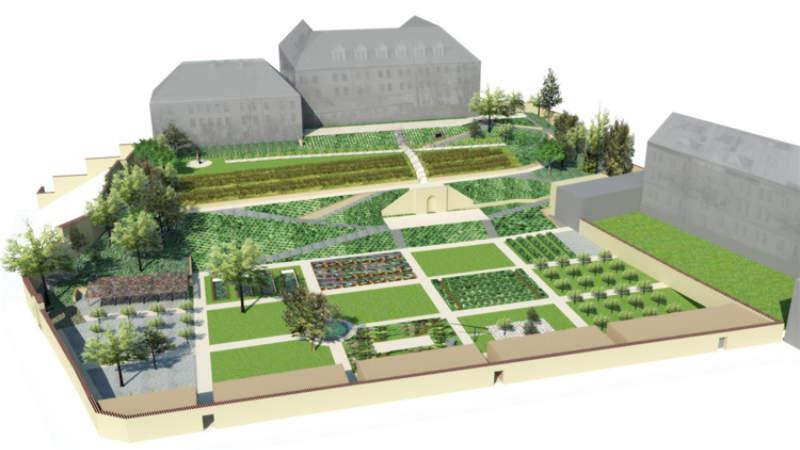 Vizualizace budoucí podoby zahrady.