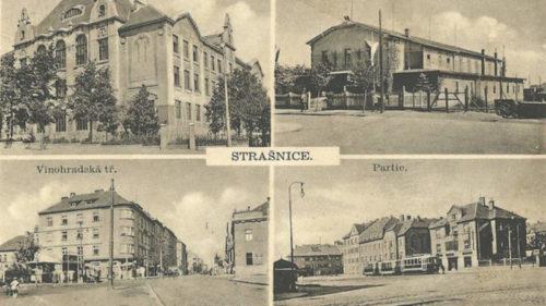 Strašnice na historické pohlednici.