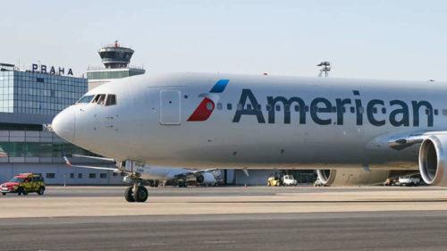 Letadlo společnosti American Airlines poprvé přistálo na pražském letišti.