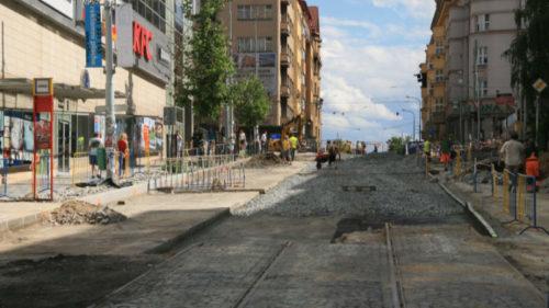 Rekonstrukce Jičínské ulice.