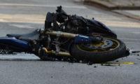 Havarovaná motorka (ilustrační foto).
