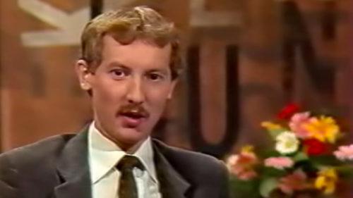 David Gruber v pořadu Kurz rychlého čtení z roku 1986.