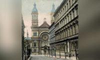 Vinohradská synagoga kolem roku 1910.
