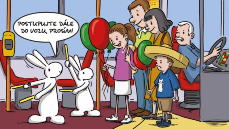 Oblíbení králíci z klobouku jsou tvářemi nové kampaně Dopravního podniku hl. m. Prahy.