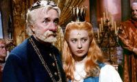 František Smolík jako král a Marie Kyselková jako princezna v pohádce Martina Friče Princezna se zlatou hvězdou.