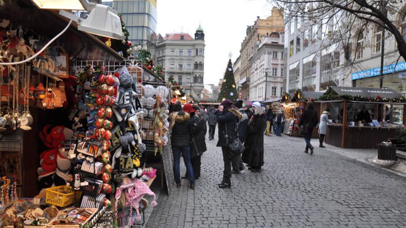 Adventní trhy v centru Prahy (ilustrační foto).