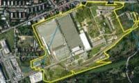 Plánek areálu po bývalé továrně Siemens na Zličíně.