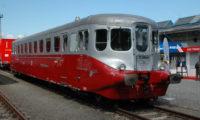 Nově zrekonstruovaný motorový vůz M 260.001 vystavený na Czech Raildays v Ostravě.