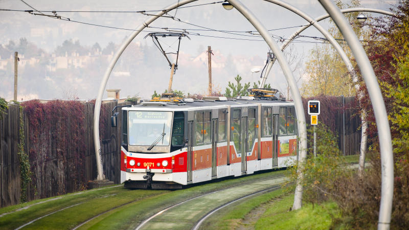 Tramvaj v Praze.